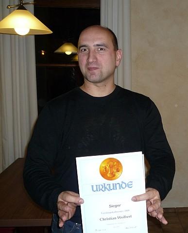 Sieger des Handicapturniers 2010: Christian Wolbert