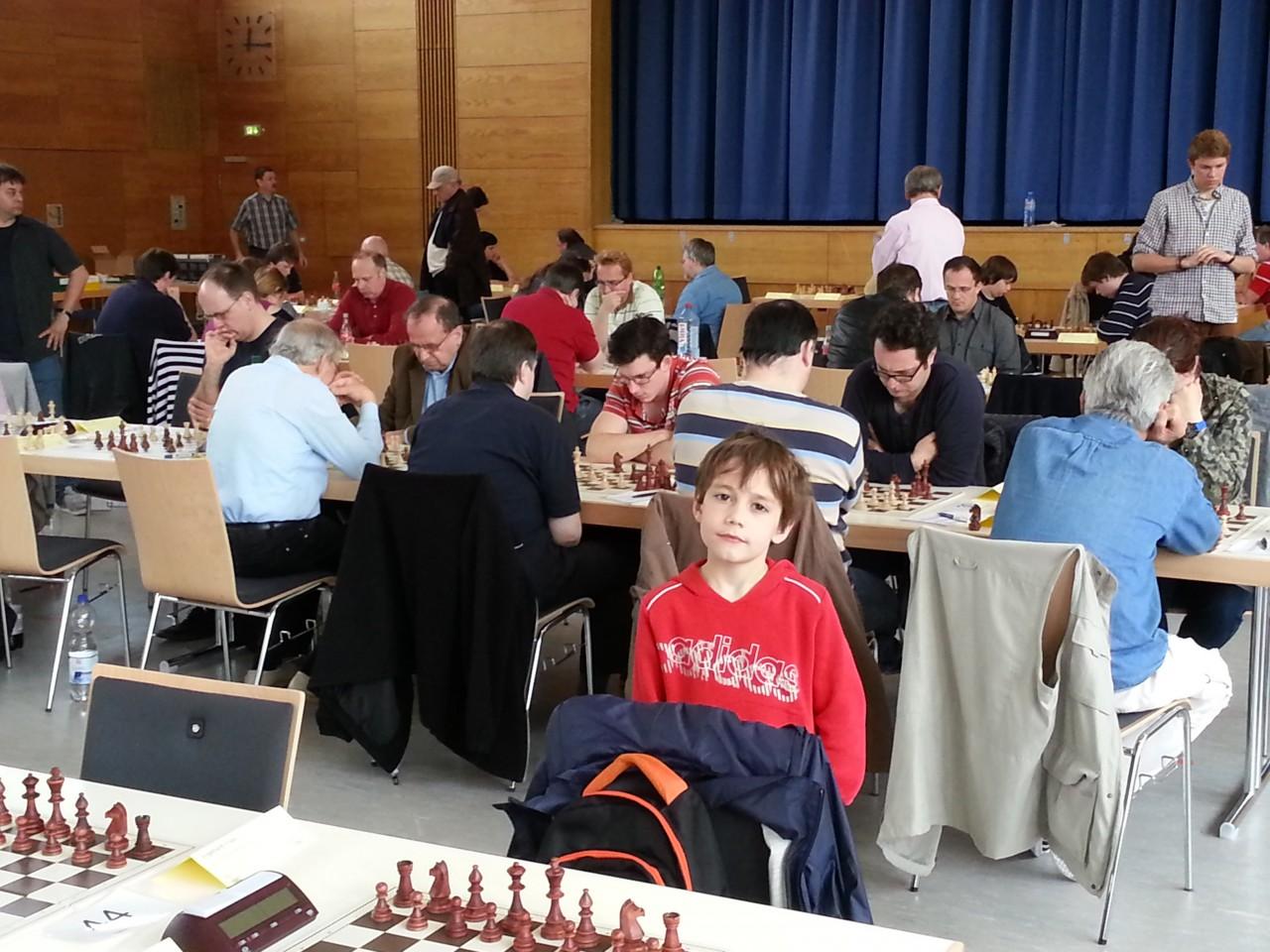Blick auf das Teilnehmerfeld im A-Turnier