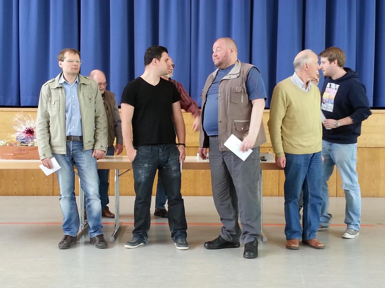 v.l.n.r.: GM Ikonnikov(2.),IM Cuenca Jimenez(1.), GM Karpatchev(3.)