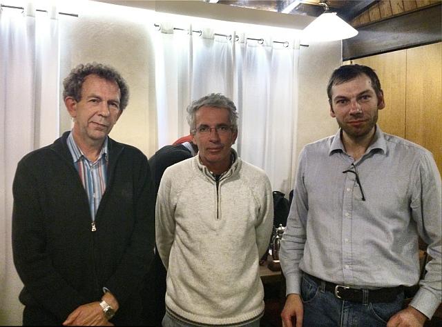 Die Turniersieger des Handicapturniers 2013: Nikolaus Keilmann (2), Nuno Serras (1) und Philippe Leick (3)