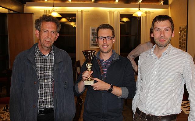 Die Sieger des Pokalturniers 2014: Nikolaus Keilmann (3), Erik Reder (1), Philippe Leick (2)