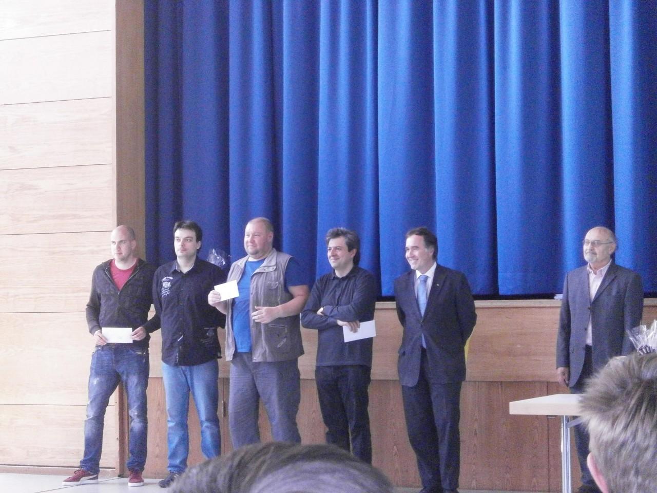 v.l.n.r.: Marin Bosiocic,Alexander Dgebuadze, Aleksandr Karpatchev,Alexander Belezky, Turnierleiter Michael Meier