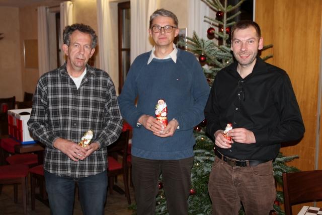 Die Sieger des Nlitzturniers 2016: Nikolaus Keilmann (2), Ulrich Grosch (1) und Philippe Leick (3).